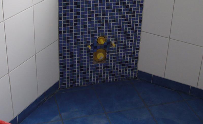 Mosaik im Sanitärbereich